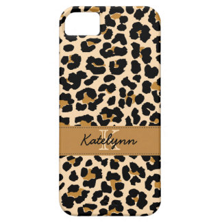 Stylish Monogram Leopard Print Phone Case Cover