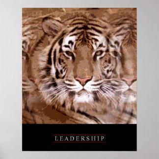 Stylish Motivational Leadership Tiger Poster