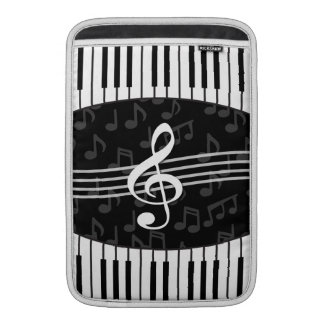 Stylish Music Notes Treble Clef and Piano Keys Sleeves For MacBook Air