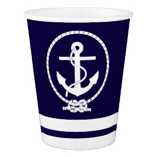 Stylish Nautical Theme Paper Cup