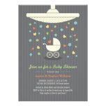 Stylish Neutral Baby Shower Colourful Invitation