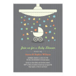 Stylish Neutral Baby Shower Colourful Invitation