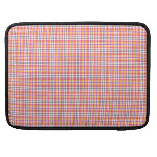 Stylish orange checkered Pattern Sleeve For MacBooks