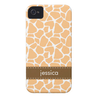 Stylish Orange Giraffe Pattern iPhone 4 Cover