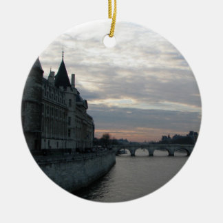 Stylish Ornament with beautiful sunset in Paris