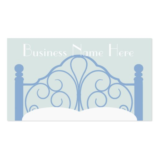 Stylish Ornate Bed Frame with Pillows Business Card Templates