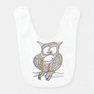 Stylish Owl Baby Bib