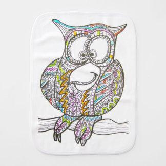 Stylish Owl Baby Burp Cloths
