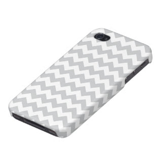 Stylish pale gray zig zags zigzag chevron pattern iPhone 4 covers