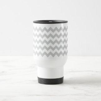 Stylish pale gray zig zags zigzag chevron pattern mugs