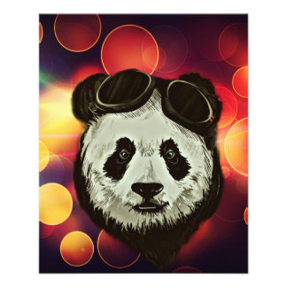 Stylish Panda Bear 11.5 Cm X 14 Cm Flyer