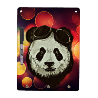 Stylish Panda Bear Dry-Erase Boards