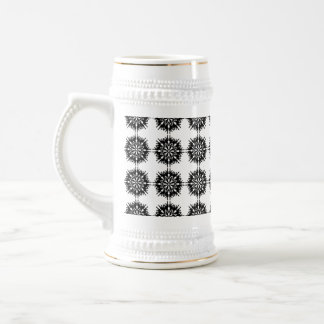 Stylish Pattern. Black and White. Beer Steins