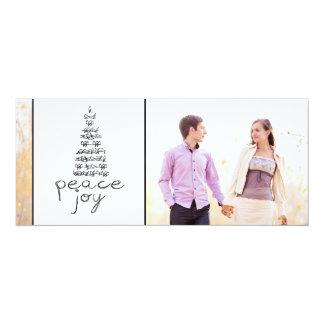 STYLISH PEACE, JOY PHOTO HOLIDAY FLAT CARD 10 CM X 24 CM INVITATION CARD