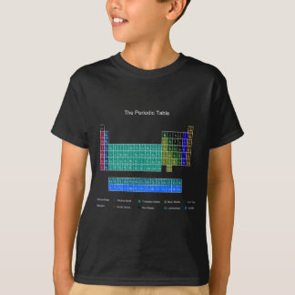 Stylish Periodic Table - Blue & Black T Shirt