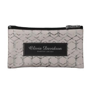 Stylish Personalised Geometric Makeup Bag