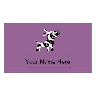 Stylish Pet Care Business Cards
