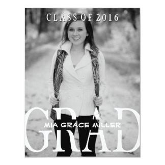 Stylish Photo 2016 Graduation Annouoncement 11 Cm X 14 Cm Invitation Card