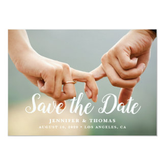 Stylish Photo Save the Date Card