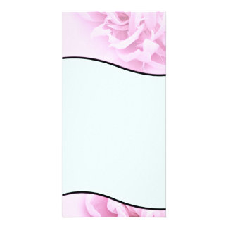 Stylish Pink and White blossom wedding gift Personalized Photo Card