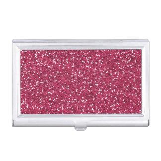 Stylish Pink Glitter Business Card Case