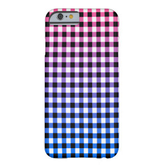 Stylish pink, purple, blue Gingham check design Barely There iPhone 6 Case
