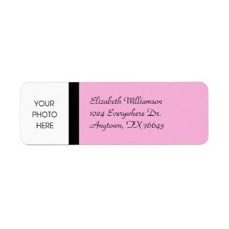 Stylish Pink Return Address Label