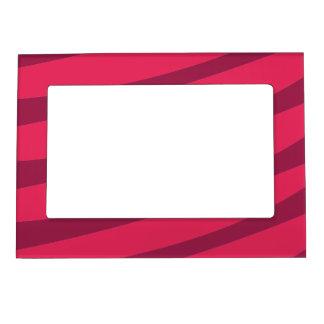 Stylish pink stripes magnetic frame