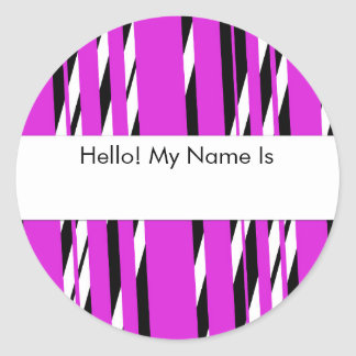 Stylish Pink Stripped Sticker Sheet