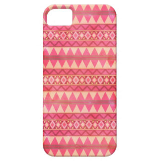 Stylish Pink Tribal Triangle Pattern iPhone 5 Cover