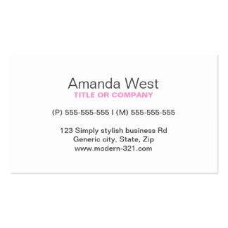 Stylish pink zig zags zigzag chevron pattern business card templates