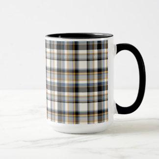 Stylish Plaid Tea and Coffee Ringer Mug
