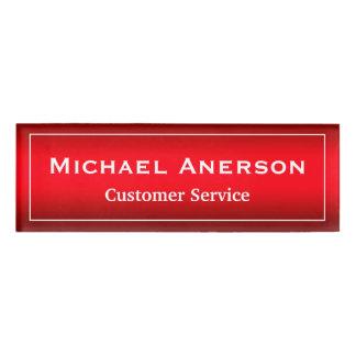 Stylish Plain Red Gradient Custom Name Title Name Tag