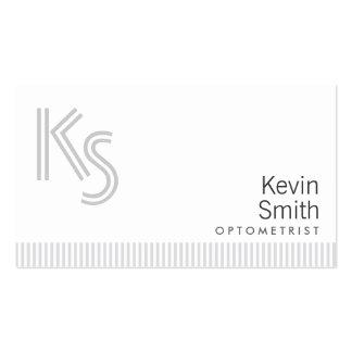 Stylish Plain White Optometrist Business Card