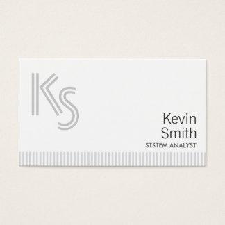 Stylish Plain White System Analyst Business Card