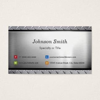 Stylish Platinum Look - Professional Customizable Business Card