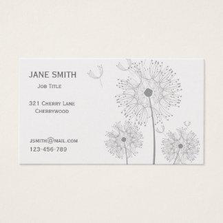 Stylish platinum modern floral customisable business card