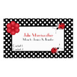 Stylish Polka Dots & Ladybugs Mummy Calling Card Pack Of Standard Business Cards