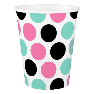 Stylish Polka Dots Pattern Paper Cup