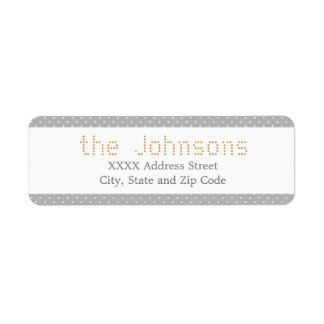 Stylish Polkadot - Custom Color Return Address Label