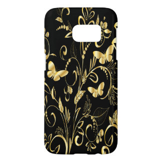 Stylish Printed Faux Gold Butterflies