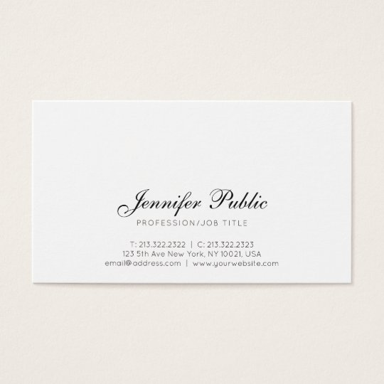 Stylish Professional Creative Design Simple Modern Business Card