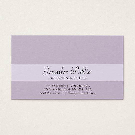 Stylish Professional Creative Design Violet Modern Business Card