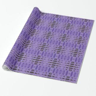 Stylish purple black pattern wrapping paper