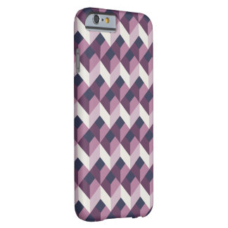 Stylish Purple Chevron Pattern on iPhone 6 Barely There iPhone 6 Case