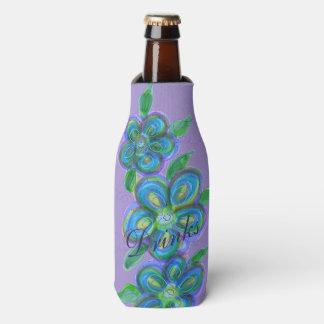 Stylish purple Floral Designer Bottle Cover Bottle Cooler