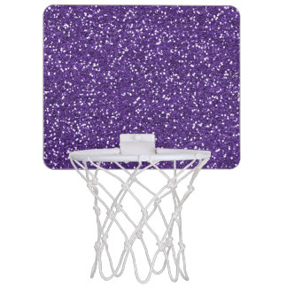 Stylish Purple Glitter Mini Basketball Hoop