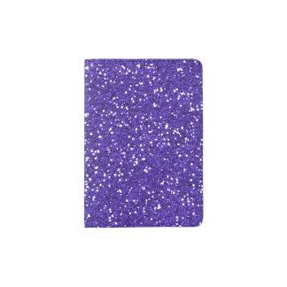 Stylish Purple Glitter Passport Holder