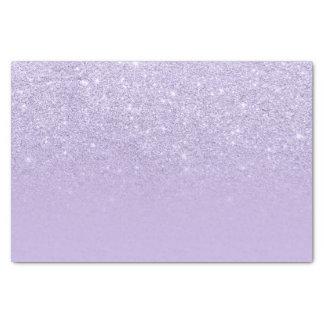 Stylish purple lavender glitter ombre color block tissue paper