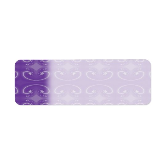 Stylish Purple Swirl Pattern. Return Address Label
